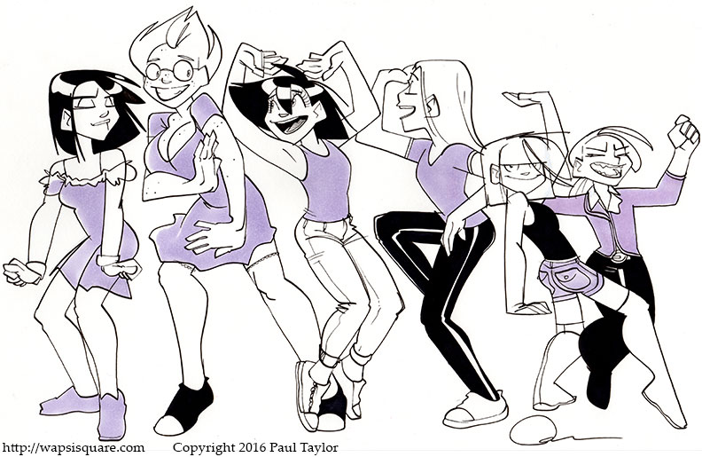 Nerd Girls Dancing